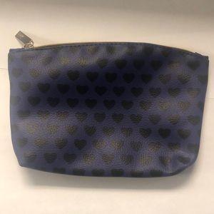 Ipsy purple and black hearts makeup bag